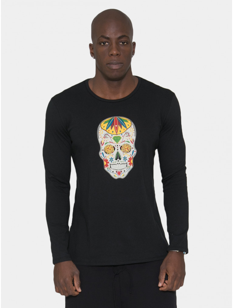 Dylan Long Sleeve Tee with Sugar Skull