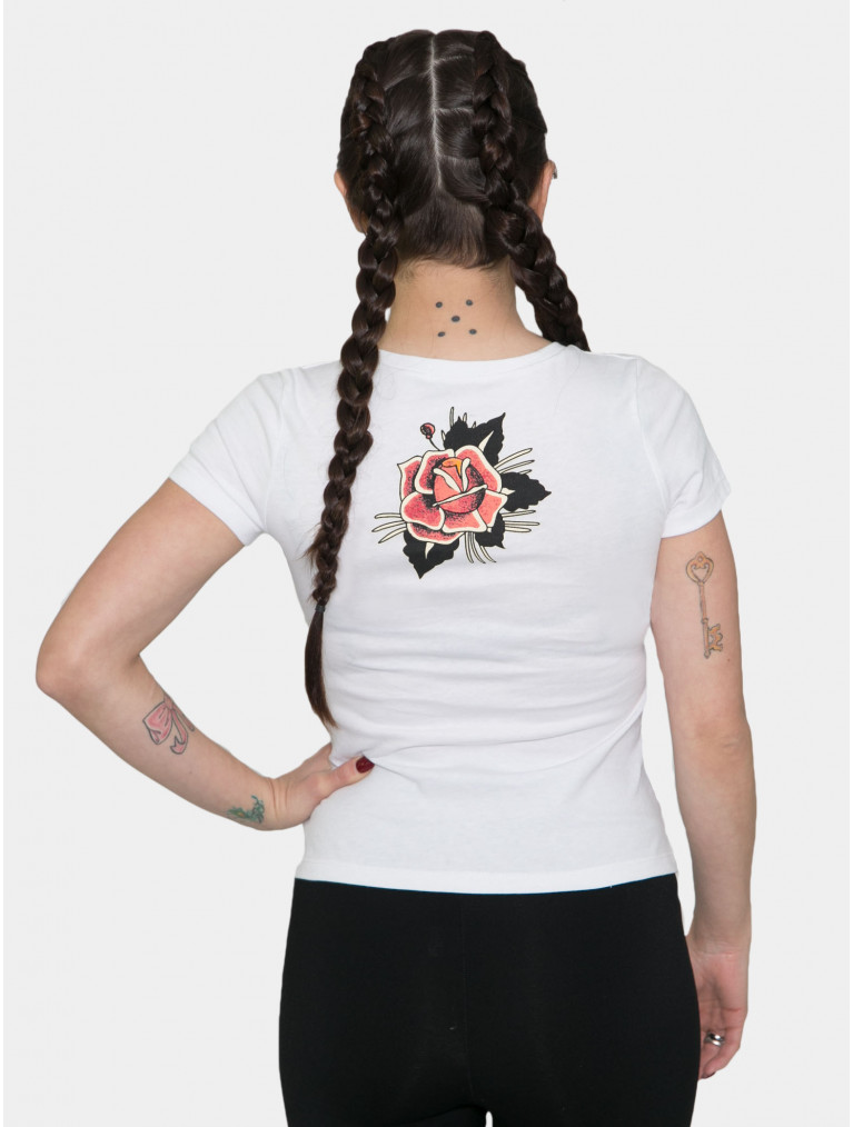 Taylor Short Sleeve Tee with Rose