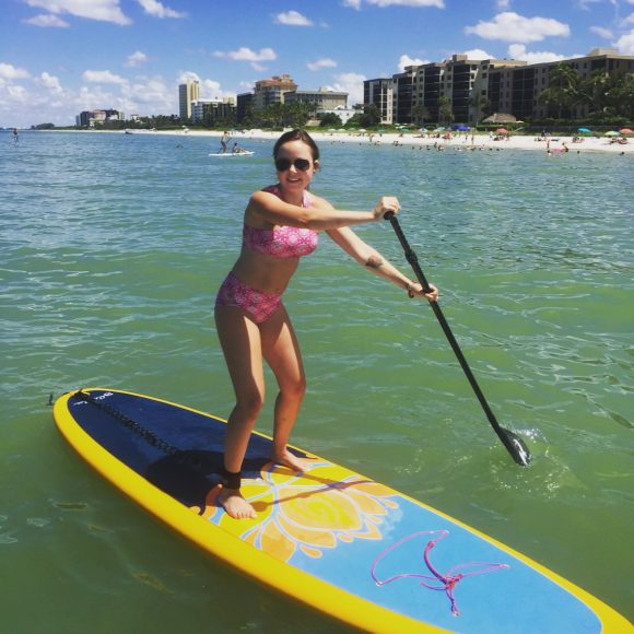 First Paddle Board Yoga Class Review
